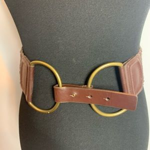 Target Wide Elastic and Leather Belt
